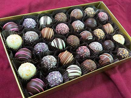 Philadelphia & Newtown Square Chocolate Truffles on the Mainline